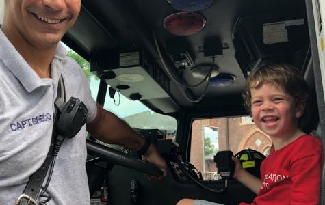 Pelham Manor Fire Department visits Prospect Hill Tiny Tots