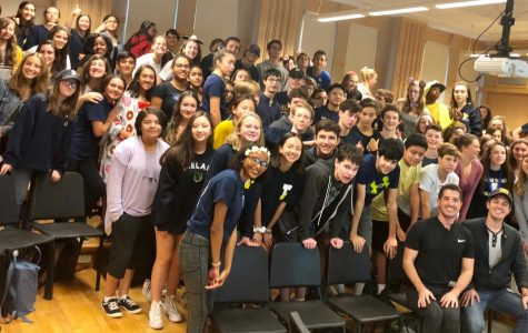 PMHS alums Will and Anthony Nunziata teach master class to concert chorus