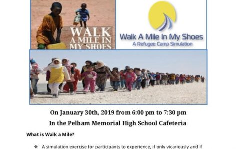 PMHS Students for Refugees club to hold walk-a-mile refugee simulation