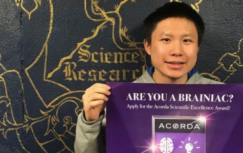 PMHS junior Tszki Wei wins Acorda Scientific Excellence Award for research work