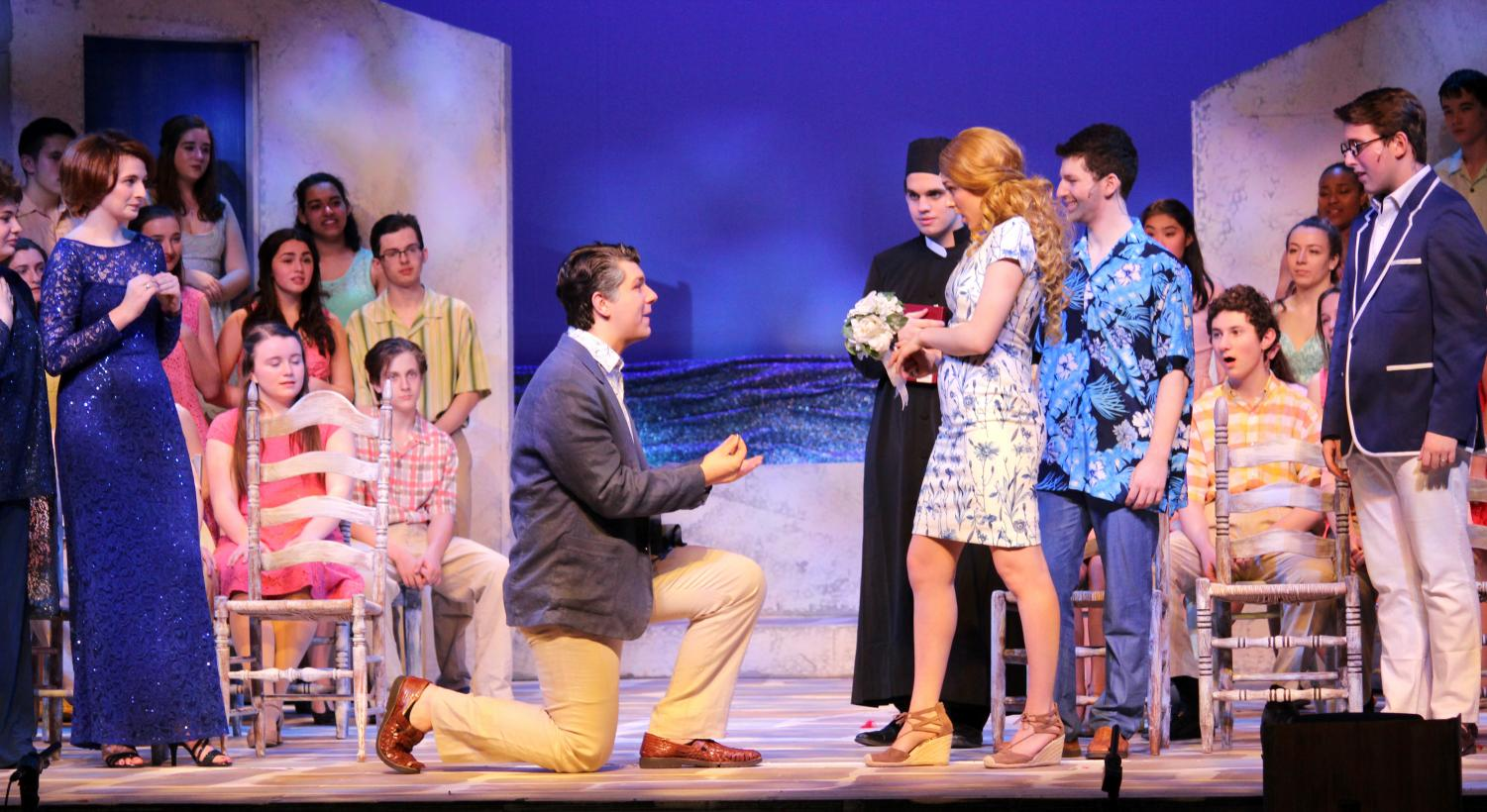 Sam Rodd (kneeling) and Maggie Solimine (with bouquet) were both selected in the top 50 performers in the Greater New York Area for the Roger Rees Awards.