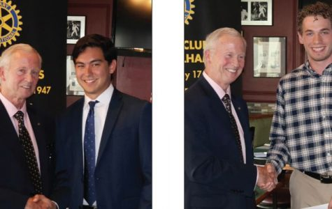 Rotary scholarship winners Shelton and Horowitz honored at club's luncheon
