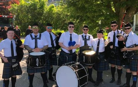 Add it to the list: Pelham now has its own tartan-clad bagpipe band
