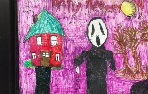 Foto Feature: Scary windows created by kids for Pelham Rec Halloween art program