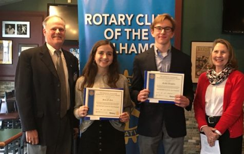 Rotary Scholars of the Month in February: Julia O'Neil and Griffin Kingsley