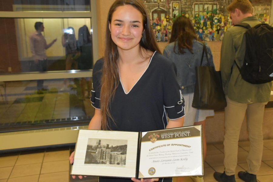 Anais Leon-Kelly, winner of the Arnold M. Alberto Patriotism Award, plans to attend the United States Military Academy in July.