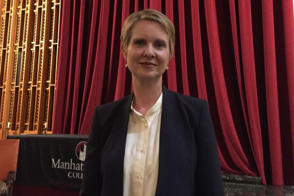 Cynthia Nixon, candidate in the Democratic primary for governor, appeared at a candidate forum in Westchester County. Gov. Andrew Cuomo didn't.