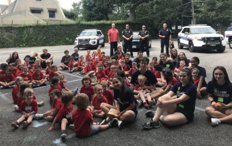 Pelham Police visit Pelham Recreation's Tiny Tots at Colonial
