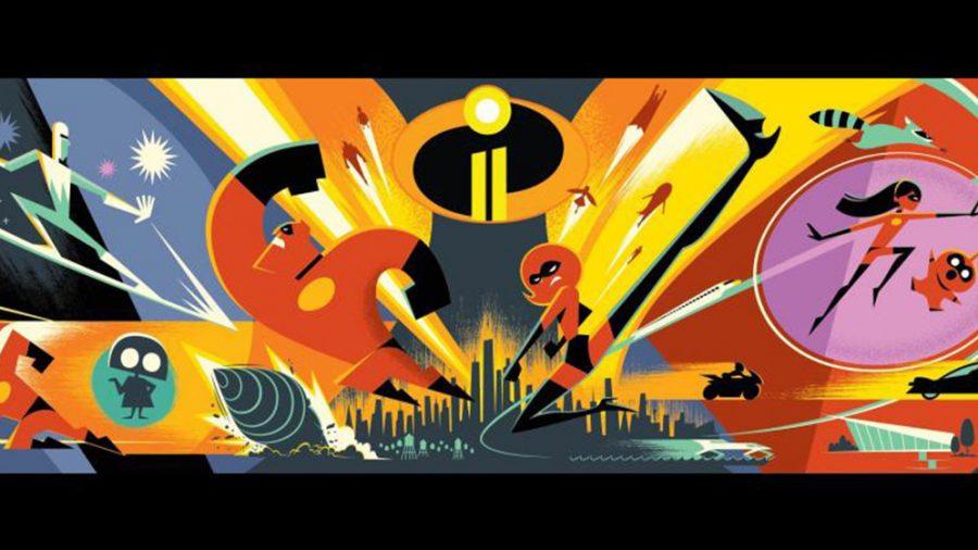 The Incredibles 2 concept art.
