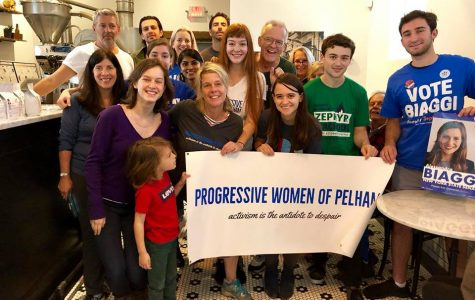 National Indivisible co-executive founder Leah Greenberg with the PWP at Cafe Ammi on Sunday, Sept. 9.