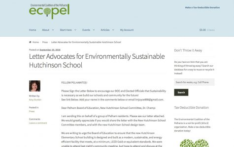 Ecopel seeks signatures for letter on environmentally sustainable Hutchinson School