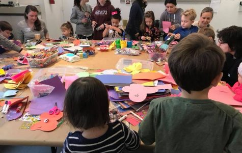 Kids did crafts during the Junior League's Martin Luther King Jr. Day of Service event.