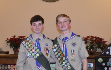Andrew Spana and Patrick 'PJ' Shiels achieve Eagle Scout at Troop 1 Pelham