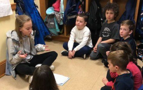 Sixth grade fairy-tale authors chosen to share their stories with Pelham second graders