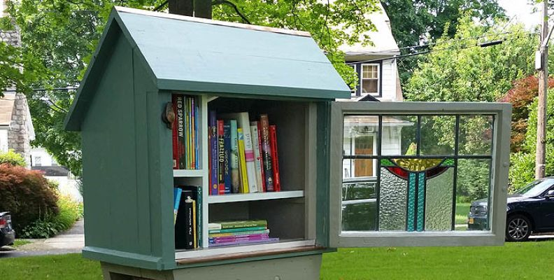 Little Free Libraries arrive in Pelham, offering take-a-book, give-a-book in parks, in front of houses
