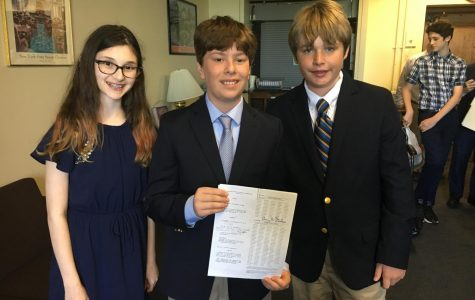 Two PMS students are winners in Assemblywoman Paulin's 'There Ought to Be a Law' contest