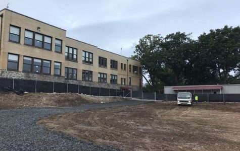 Site preparation at the end of August at Hutchinson School.