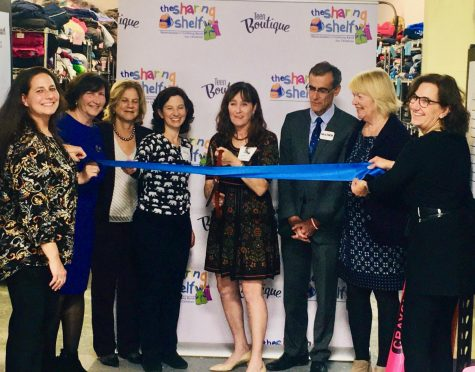 From left, Jennifer Perri (volunteer coordinator), Nancy Barr, Shelley Mayer, Kathy Ellis (assistant director), Deborah Blatt (founder, program director), Damon Maher, Polly Kerrigan (acting CEO, Family Services of Westchester) and Gerry Goldberg (co-founder).