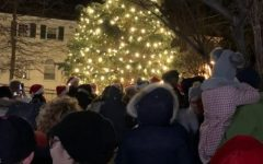 Pelham holiday tree lit Saturday with songs, cookies, singing and Santa