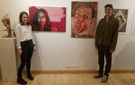 Snapshot: PMHS students Morgan Sample, Henry Gutch exhibit work at regional high school show
