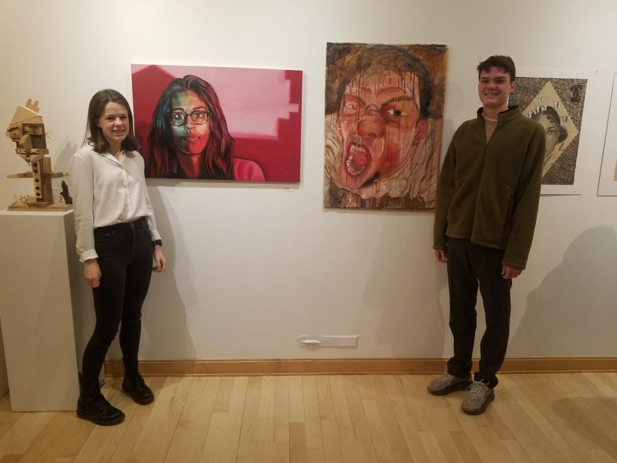 Snapshot: PMHS students Morgan Sample, Henry Gutch exhibit work at regional high school show