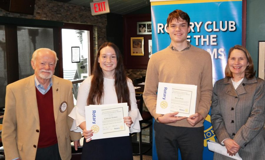 Catherine+Taubner+and+Henry+Gutch+named+Rotary+Scholars+for+February