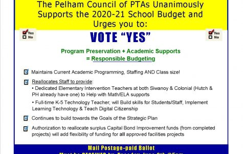 Pelham Council of PTAs backs school budget up for vote by mail ballots due June 9