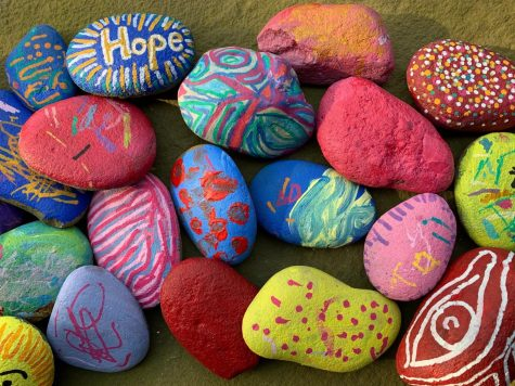 Pelham Art Rocks: Come take a rock, paint a rock, and leave a rock under the Pelham Art Center red arch.
