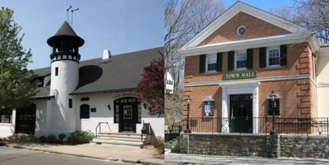On left, Village of Pelham Manor Police Department is headquartered in village hall, while Village of Pelham police are housed in Pelham Town Hall.