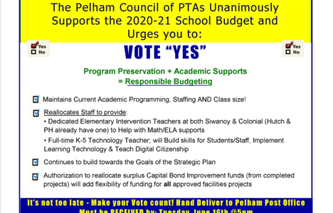PTA Council makes final call for residents to approve school budget