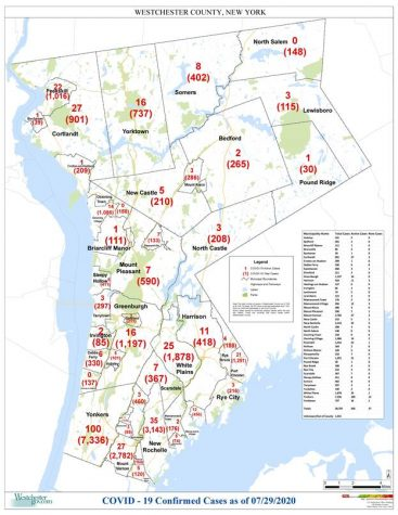 Westchester reports Covid-19 cases by municipality: Pelham Manor 120, Pelham 164
