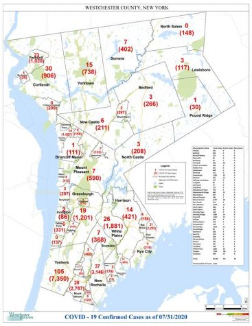 Westchester reports Covid-19 cases by municipality: Pelham Manor 120, Pelham 166