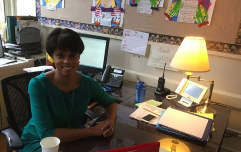 Principal Tonya Wilson in her office.