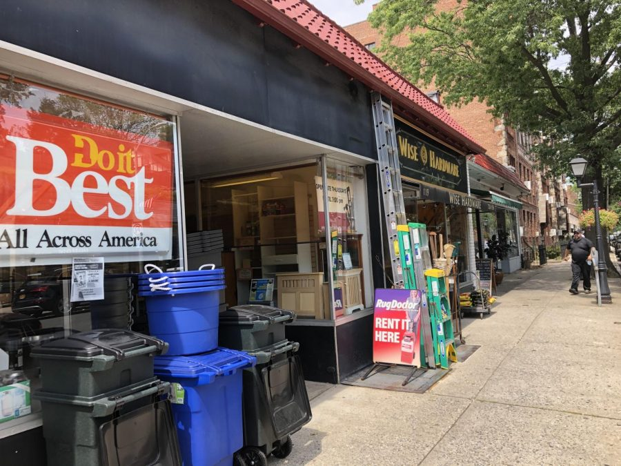 Wise Hardware on Fifth Avenue stayed open as an essential business.