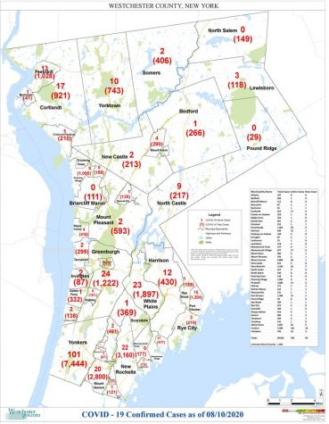 Westchester reports Covid-19 cases by municipality: Pelham Manor 121, Pelham 171