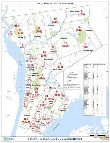 Westchester reports Covid-19 cases by municipality: Pelham Manor 128, Pelham 176