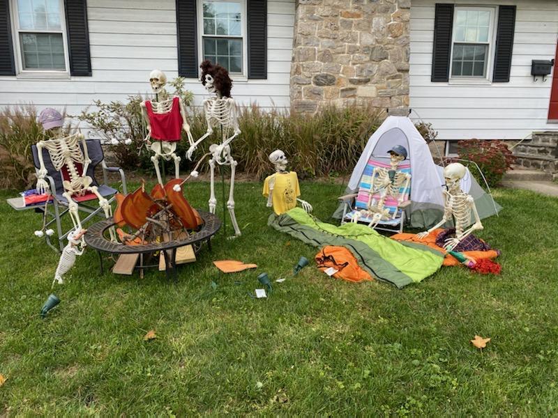 Skeletons enjoying the great outdoors, 15 Storer Ave.