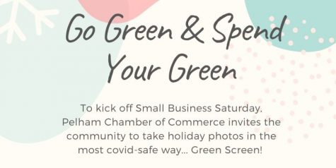 Take holiday photos with green screen as part of chamber