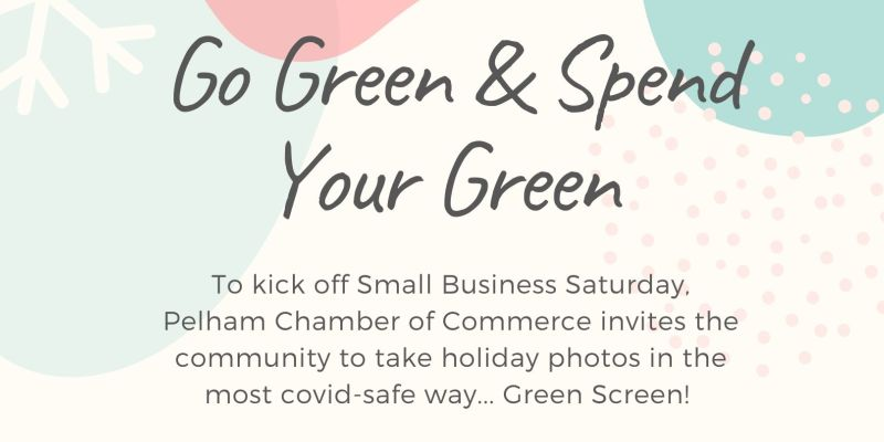 Take holiday photos with green screen as part of chamber's Small Business Saturday