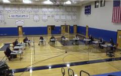The Pelham school board  met in the middle school gym Nov. 4.
