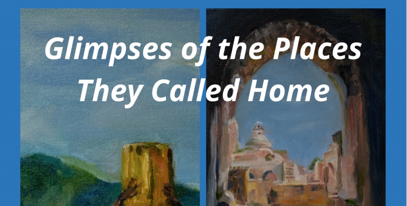Online auction of 28 paintings of refugee homelands to benefit Hearts and Homes