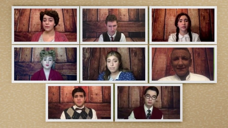 Cast members act out a scene from 'The Diary of Anne Frank.'