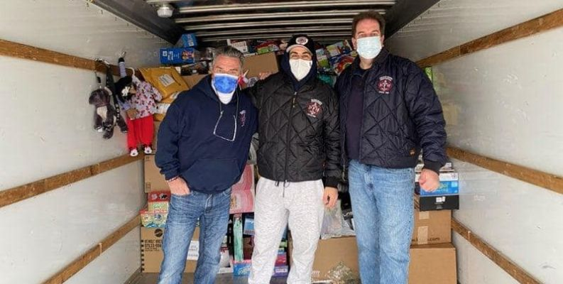 Pelham Manor Fire Department collecting for annual Toys for Tots drive