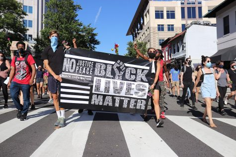 Black Lives Matter protesters march in Washington, D.C., on Sept. 5.