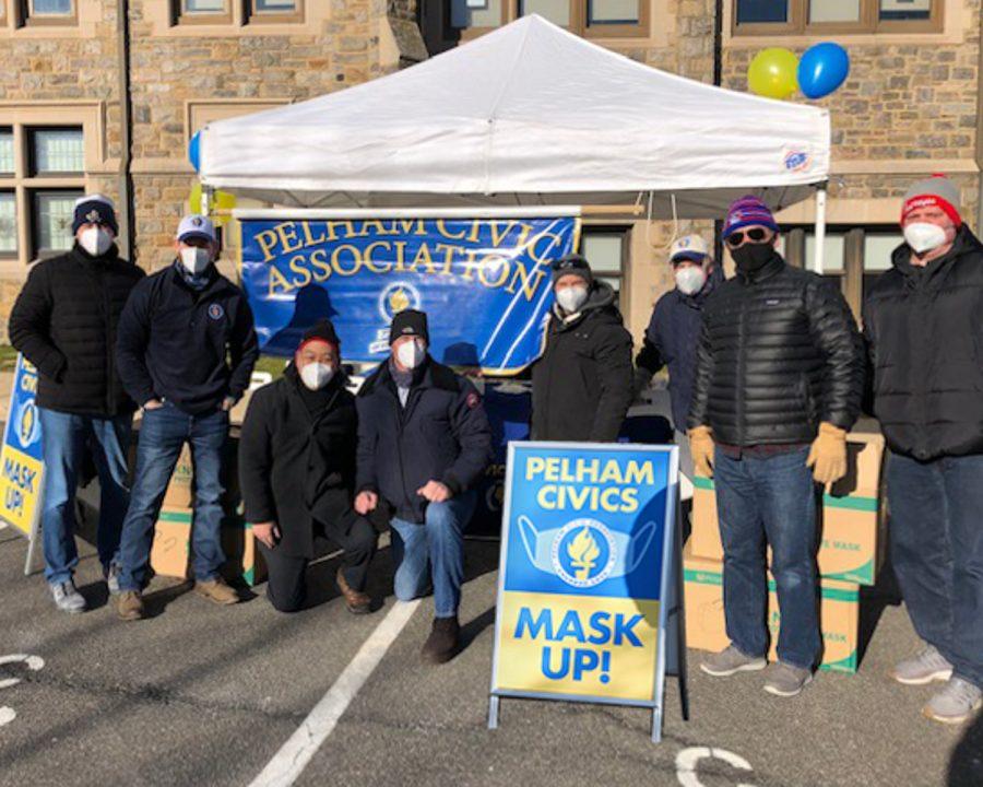 Pelham Civics distribute 7,000 free respirator masks in Mask Up effort