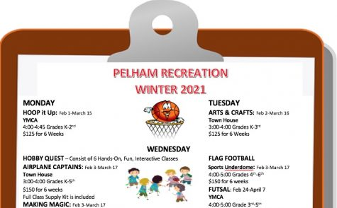 Pelham Rec winter programs include hoops, arts and crafts, hobby quest and soccer