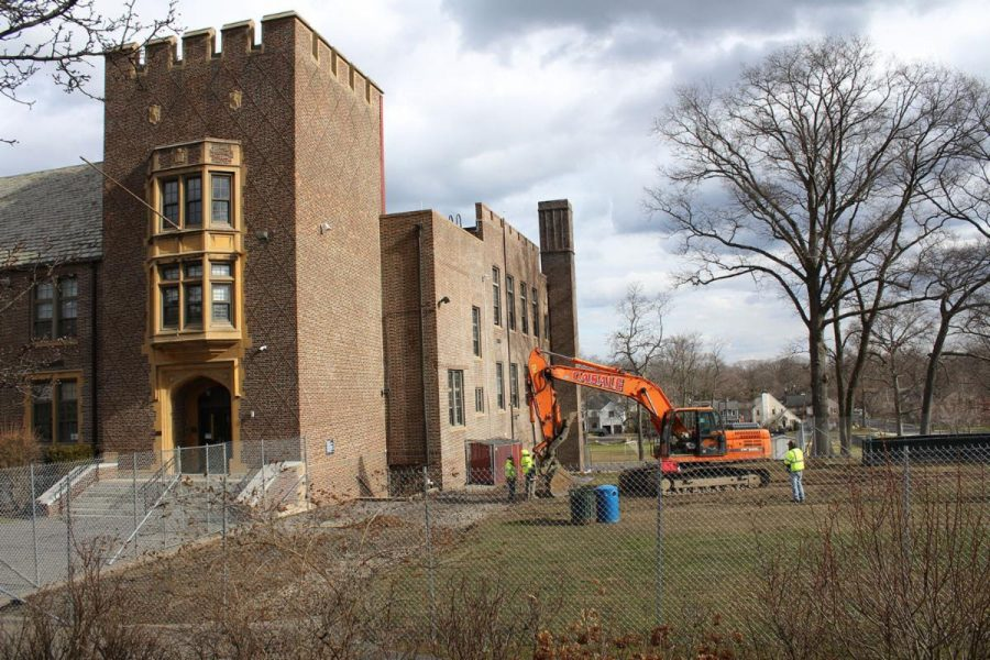 Site preparation has started for addition to Prospect Hill School.