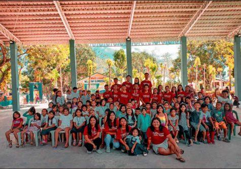Students of Rahala East Junior School in Sri Lanka.