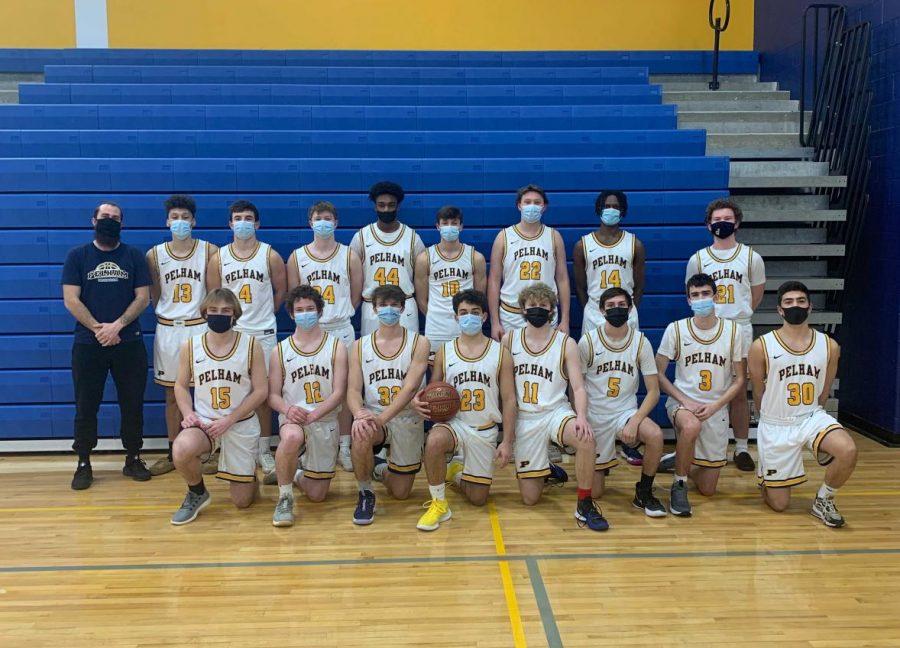 The PMHS boys varsity basketball team.