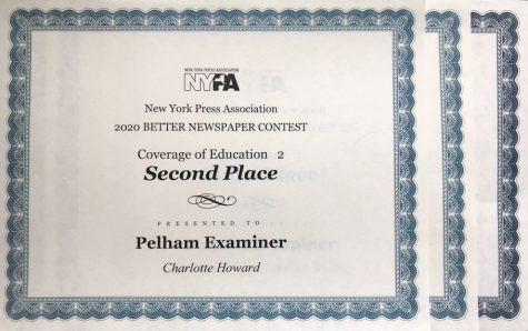 Pelham Examiner wins awards for news, education and healthcare coverage from state press association